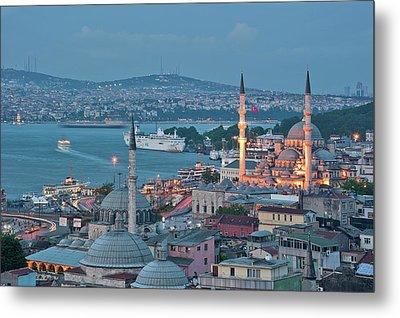 Yeni Camii Metal Print by Salvator Barki