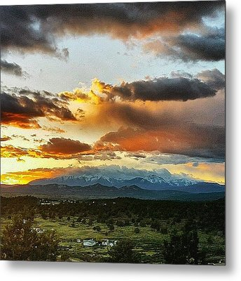 Mountain Sunset Metal Print by Joan McCool