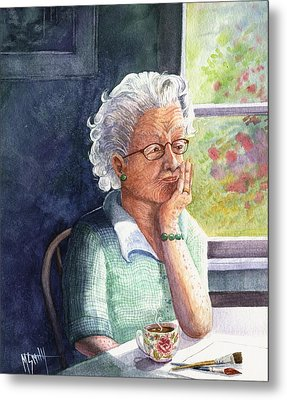 Metal Print featuring the painting Yesterday's Gone by Marilyn Smith