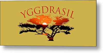 Yggdrasil- The World Tree Metal Print
