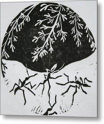 Yin Yang Metal Print by Pati Hays