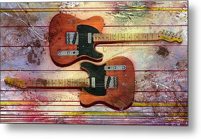 Metal Print featuring the painting Yin-yang Teles by Andrew King