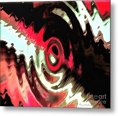 Metal Print featuring the painting Ying Yang by Catherine Lott