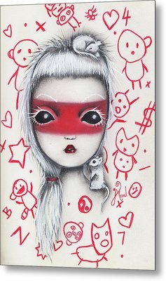 Yo  Metal Print by Abril Andrade Griffith