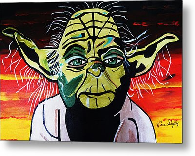 Yoda  Come Home Metal Print by Nora Shepley