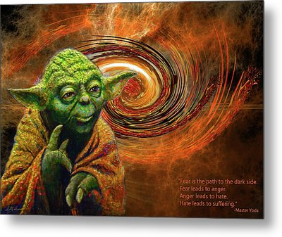Yoda-no Fear Metal Print by Michael Durst
