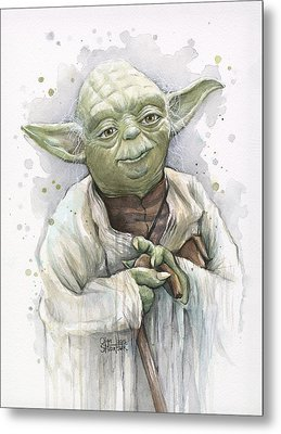 Yoda Metal Print by Olga Shvartsur