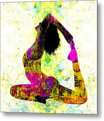 Yoga - One-legged King Pigeon Pose Metal Print by Stacey Chiew