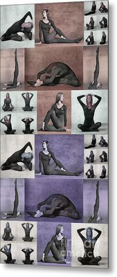 Yoga Poses II Metal Print