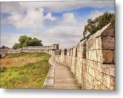 Metal Print featuring the photograph York City Walls, England by Colin and Linda McKie