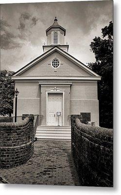 York-hampton Parish Church - Toned Bw Metal Print