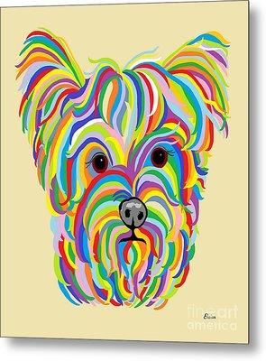 Yorkshire Terrier ... Yorkie Metal Print by Eloise Schneider
