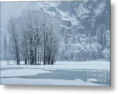 Metal Print featuring the photograph Yosemite - A Winter Wonderland by Sandra Bronstein