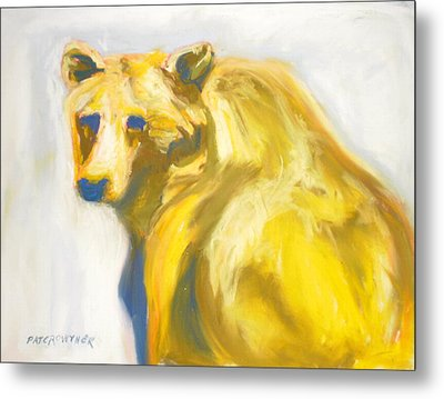 Metal Print featuring the pastel Yosemite Bear by Pat Crowther