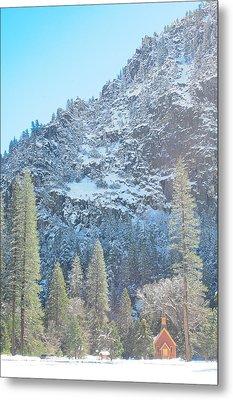 Yosemite Chapel Metal Print