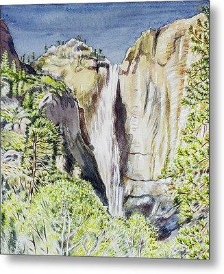 Yosemite Falls California Metal Print by Patricia Buckley