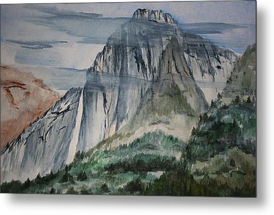 Yosemite Falls Metal Print by Julie Lueders