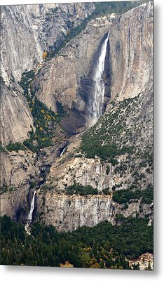 Metal Print featuring the photograph Yosemite Falls by Lynn Bawden