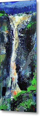 Metal Print featuring the painting Yosemite Falls by Walter Fahmy