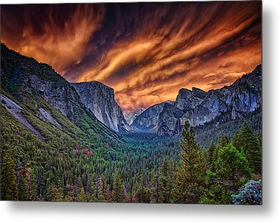 Yosemite Fire Metal Print