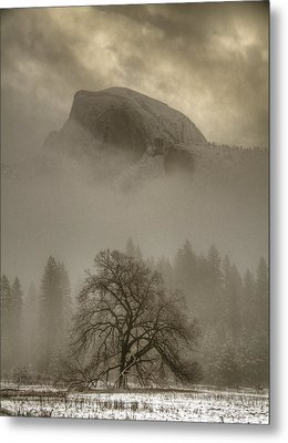 Yosemite In The Winter Metal Print by Connie Cooper-Edwards