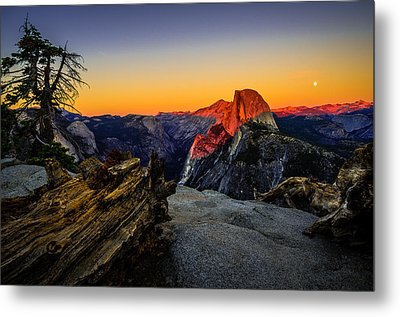 Yosemite National Park Glacier Point Half Dome Sunset Metal Print by Scott McGuire