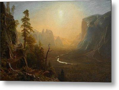 Yosemite Valley Glacier Point Trail Metal Print by Albert Bierstadt