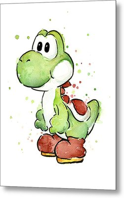 Yoshi Watercolor Metal Print by Olga Shvartsur
