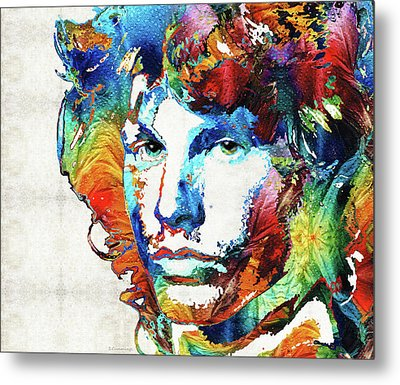 You Are Free - Jim Morrison Tribute Metal Print by Sharon Cummings