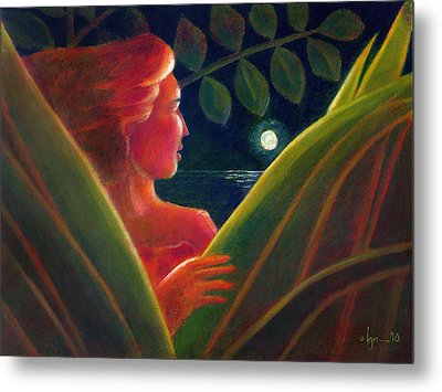 Metal Print featuring the painting You Are The Light Of My Life by Angela Treat Lyon