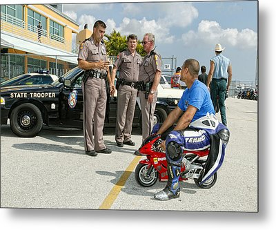 You Are Under Arrest !! Metal Print by Alfred Forns