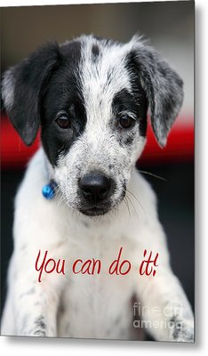You Can Do It Metal Print by Amanda Barcon