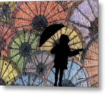 You Can Stand Under My Umbrella Metal Print by Sowjanya Sreeram