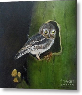 Metal Print featuring the painting You Caught Me by Roseann Gilmore