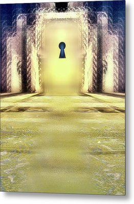 You Hold The Key Metal Print by Another Dimension Art