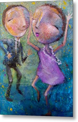 Metal Print featuring the painting You Make Me Wanna Dance by Eleatta Diver