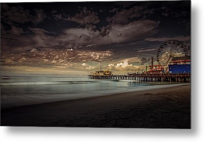 Enchanted Pier Metal Print