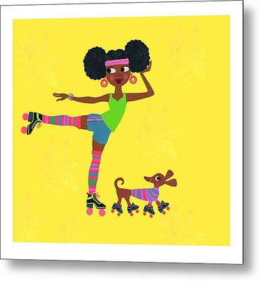 Young African American Woman Metal Print
