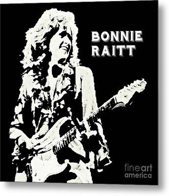 Young Bonnie Raitt Poster Metal Print by John Malone