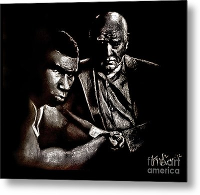 Young Boxer And Soon To Be World Champion Mike Tyson And Trainer Cus Damato Metal Print by Jim Fitzpatrick