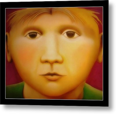 Young Boy - In Large Scale Metal Print by Chris Boone