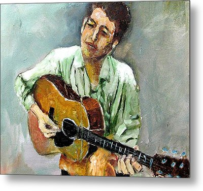 Young Dylan 1 Metal Print by Udi Peled