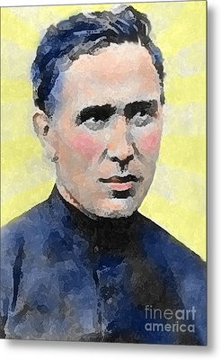 Young Father Damien Metal Print by James Temple