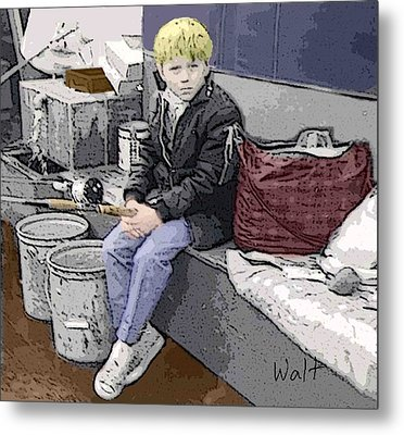 Young Fisherman Metal Print