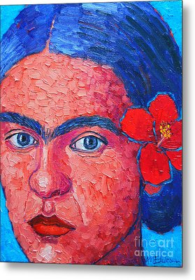Young Frida Kahlo Metal Print by Ana Maria Edulescu