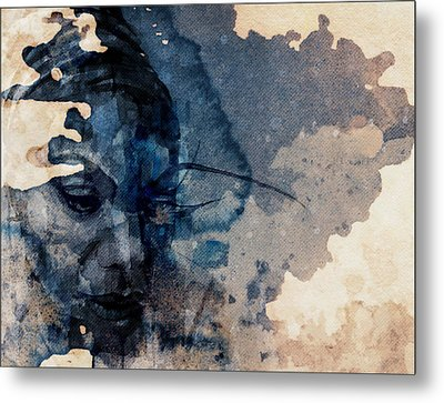 Metal Print featuring the mixed media Young Gifted And Black - Nina Simone  by Paul Lovering
