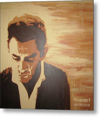 Young Johnny Cash Metal Print by Ashley Price