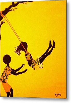 Young Love-swing Time Metal Print