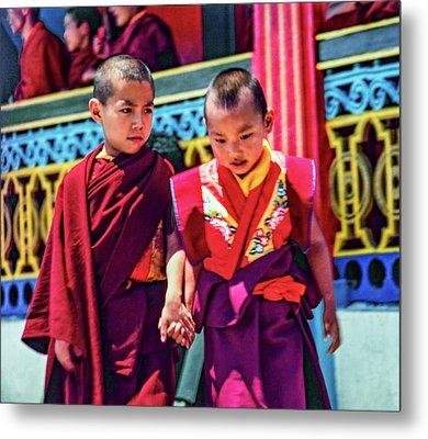 Young Monks - Buddies Metal Print by Steve Harrington