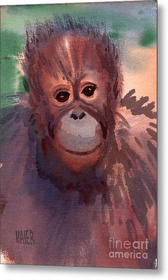Young Orangutan Metal Print by Donald Maier